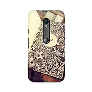Mobicture Girl Cartoon Premium Printed Case For Moto X Play