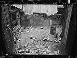Photo: Slum housing,laundry,clothes lines,walls,buildings,nitrate,Washington DC,1935