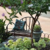 Lawn &amp; Patio - Miniature Fairy Garden Metal Vine Bench