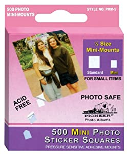 Pioneer 500 Count Self Adhesive Mini Photo Mounts