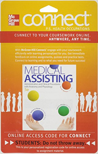 Connect Allied Health with LearnSmart 2 Semester Access Card for Medical Assisting: Administrative and Clinical Procedur