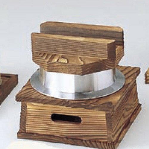 pan kbu638-13-842 [6.5 x 6.5 x 6.11 inch] Japanese tabletop kitchen dish Aluminum products Thuja Kamameshi set ( with rice scoop ) [16.5 x 16.5 x 15.5cm] open fire inn restaurant tableware restaurant business kbu638-13-842