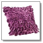 Starburt Petals 16-Inch Pillow Plum Color