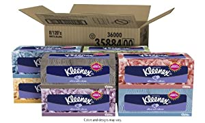 Kleenex Ultra Facial Tissue, 120 Count (Pack of 8)