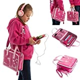 Ultimate Addons Girls Handbag Audio Bundle for LeapFrog LeapPad Ultra / XDi including Pink Headphones (Pink)