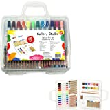 Gallery Studio - 66 Piece Deluxe Young Artist Art Set in Sturdy Transparent Case (Quality Mediums Guaranteed)