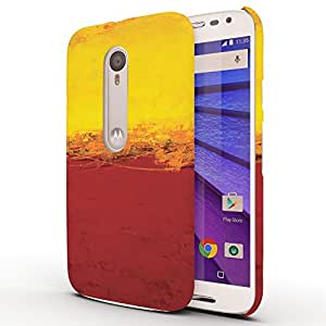 Koveru Back Cover Case for Motorola Moto G3 - Yellow and Red