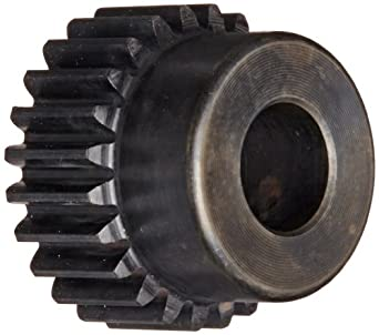 SmallParts Spur Gear, 20 Degree Pressure Angle, Carbon Steel, Inch