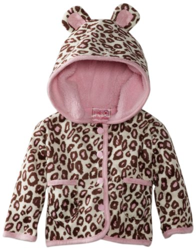 New Pink Platinum Baby-Girls Newborn Printed Cheetah Ears Jacket