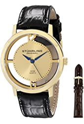 Stuhrling Original Men's 388G2.SET.02 Winchester Cathedral 23k Yellow Gold-Plated Stainless Steel Watch