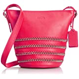 Coach Mini Duffle Pop Lacing Whiplash Leather Shoulder Hobo Bag 35373 Pink Ruby