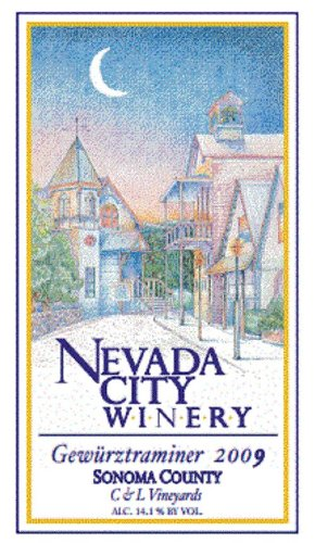 2009 Nevada City Winery C & L Vineyards Sonoma County Gewurtztraminer 750 Ml