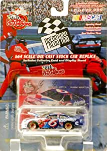 1999 - Racing Champions - NASCAR - Press Pass - Mark Martin - #6 Valvoline - Ford Taurus - Lenticular Collector Card & Display Stand - 1:64 Scale - Die Cast Metal - 1 of 19,999 - Serial Number on Chassis - New - Out of Production - Hood Opens - Rare - Collectible