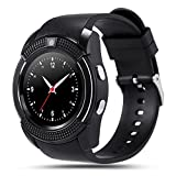 TechComm V8 Smart Watch with Camera, Bluetooth, GSM and IPS Display (Color: Black)