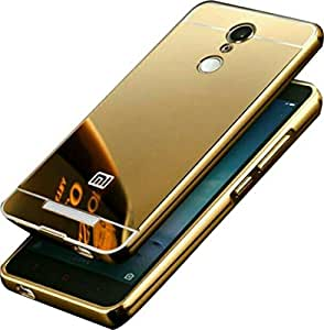 Novo Style Luxury Shiny Bling Glitter Metal Clear Aluminum Frame Cover Ultra Thin Slim Bumper Hard Back Case Cover For Redmi Note 3 - Golden