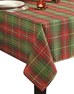 Benson mills christmas plaid printed for Table runners 52 inches