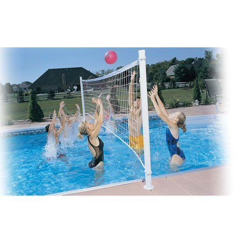 Dunnrite DeckVolley Swimming Pool Volleyball Set with Brass Anchors (FOR SALT SYSTEM POOLS) by Dunn Rite günstig bestellen