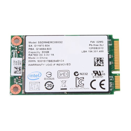 Intel X25-M mSATA 80GB 4.85mm MLC Module SATA Solid State Drive