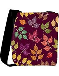Snoogg A Seamless Pattern With Leaf Womens Carry Around Cross Body Tote Handbag Sling Bags
