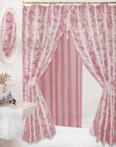 elegant double swag shower curtains in bath accessories shop at
