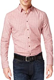 Autograph Luxury Pure Cotton Long Sleeve Square Print Shirt [T25-3391T-S]