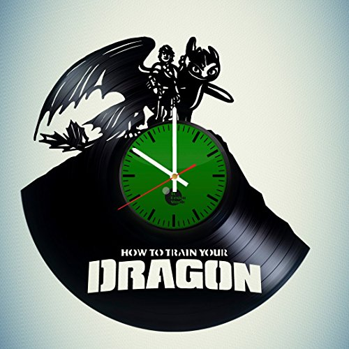How-To-Train-Your-Dragon-HANDMADE-Vinyl-Record-Wall-Clock-Get-unique-kids-room-wall-decor-Gift-ideas-for-adults-girls-and-boys-Cartoon-Cool-Art-Leave-us-a-feedback-and-win-your-custom-clock