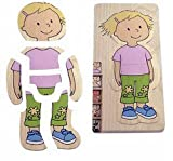 Beleduc Your Body - Girl 5- Layer Wooden Puzzle