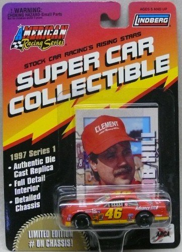 Lindberg - American Racing Series - Super Car Collectible - Bob Hill - No. 46 Advance Auto Parts Chevy Monte Carlo - 1:64 Diecast Collectible Race Car and Collector's Card