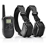 Petrainer 330 Yards Remote 4 in 1 LCD Rechargeable and Waterproof Pet Dog Training Collar