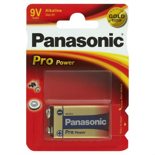 Panasonic Pile Alcaline 9 Volt, Pro Power (Gold Award), 1 piece - lot de 3 pieces