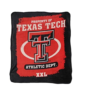NCAA Texas Tech Red Raiders Soft Plush Thermal Blanket / Fleece Couch Throw Red & Black