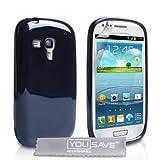 """Samsung Galaxy S3 Mini Tasche Galaxy S3 Mini Schwarz Silikon Gel Gl�nzend H�llevon """"Yousave Accessories�"""""""