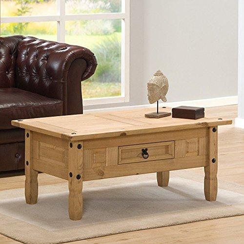 Corona tavolino, Legno metallo, Brown, Dimensions: 58 x 96 x 45 cm (Length x Width x Height)