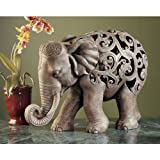 Design Toscano Anjan the Elephant Jali Sculpture