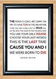 Lana Del Rey 'Born To Die' Lyrical Song Print Poster Art A4 Size (Typography)