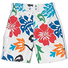 The Children's Place Baby-Boys Hibiscus Swim Trunks