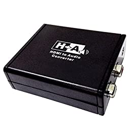 Panlong HDMI Audio Extractor Converter Digital PCM to Analog Audio Adapter with RCA and 3.5mm Out for Chromecast