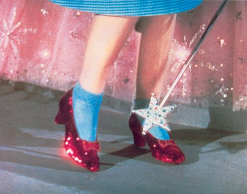 The Wizard of Oz Ruby Slippers Classic Fantasy Musical Movie Film Still Rare Vintage Original Closeout Stock Postcard Poster Print 11x14