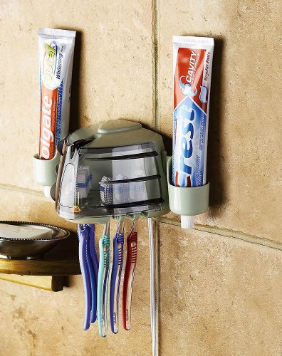 Wall-Mount Toothbrush Holder & Sanitizer By Collections Etc