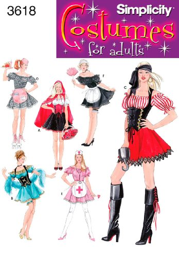 Simplicity Sewing Pattern 3618 Misses Costumes, RR (14-16-18-20)