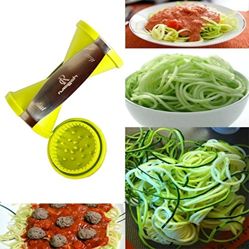 rc zucchini and carrot veggie pasta spaghetti maker vegetable spiralizer spiral slicer cutter. Black Bedroom Furniture Sets. Home Design Ideas