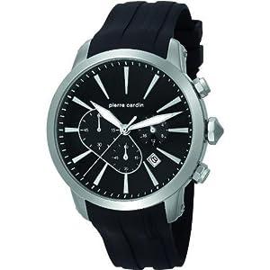 Pierre Cardin pc105431f06 Stainless Steel Case Black Rubber Mineral Men's Watch