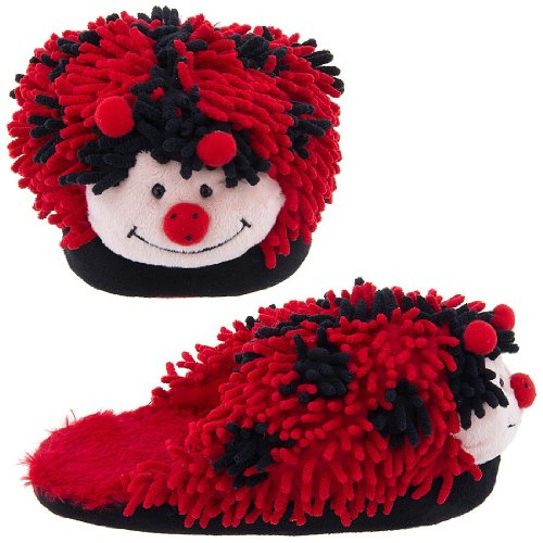 Image of Ladybug Fuzzy Animal Slippers for Women (B004Z25ICY)