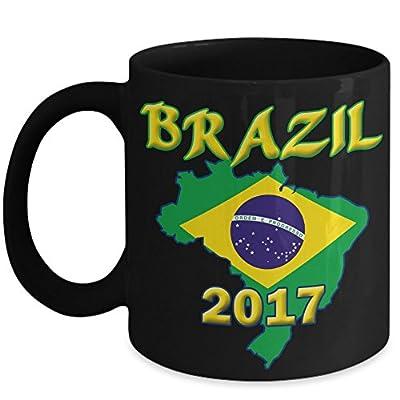 Brazil Flag Coffee Mug Cup - Christmas or Happy New Year 2017