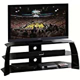 "Techni Mobili Black Tempered Glass 65"" TV Stand"