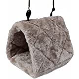 Alcoa Prime Winter Warm Plush Bird Hammock Hanging Cave Cage Hamster Small Pet Hut Tent Bed Bunk Parrot Toy House...