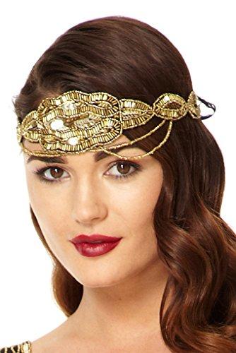 Gatsb (Gold Flapper Headband)