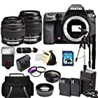 Pentax K-5 IIs Digital SLR Camera Kit with SMC DAL 18-55mm f/3.5-5.6 Lens + SMC Pentax DA 50-200mm f/4-5.6 ED Zoom Lens. Includes: 0.45x Wide Angle Lens, 2X Telephoto Lens, 3 Piece Filter Kit(UV-CPL-FLD), 16GB Memory Card, 2 Extended Life Replacement Batteries, Tripod, Monopod & More..!