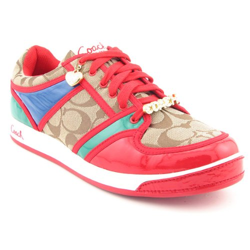 Coach Oriana Sneakers Shoes Red Womens
