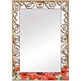 The Attic Midvale Mirror Frame (Glossy Finish, Brown)